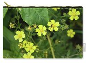Yellow Flower And A Black Bug  Carry-all Pouch