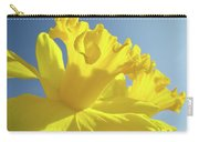 Yellow Flower Floral Daffodils Art Prints Spring Blue Sky Baslee Troutman Carry-all Pouch