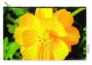 Yellow Flower On Black Background Carry-all Pouch