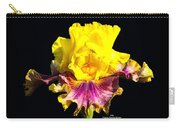Yellow Flower On Black Carry-all Pouch