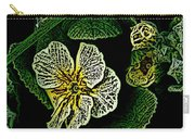 Yellow Flower Woodcut Carry-all Pouch