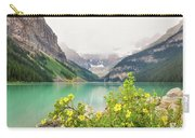 Yellow Flowers At Lake Louise Carry-all Pouch