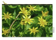 Yellow Flowers On A Green Carpet Carry-all Pouch