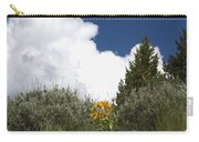 Yellow Flowers White Cloud Carry-all Pouch