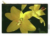 Yellow Garden Lilies Carry-all Pouch