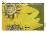 Yellow Gazanias And Bee  Carry-all Pouch