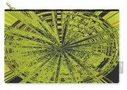 Yellow Green Black Abstract Carry-all Pouch