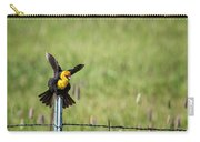 Yellow-headed Blackbird Balancing Act Carry-all Pouch