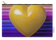 Yellow Heart On Row Of Colored Pencils Carry-all Pouch