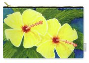 Yellow Hibiscus Flower #292 Carry-all Pouch