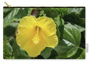 Yellow Hibiscus Carry-all Pouch