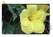 Yellow Hibiscus Watercolor Carry-all Pouch