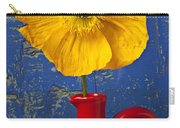 Yellow Iceland Poppy Red Pitcher Carry-all Pouch
