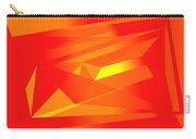Yellow In Red Carry-all Pouch