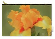 Yellow Iris Pillow Carry-all Pouch