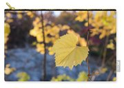 Yellow Leaf Newton Upper Falls Fall Foliage Carry-all Pouch