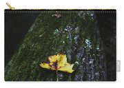 Yellow Leaf On Mossy Tree Carry-all Pouch