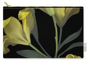 Yellow Lily On Black Carry-all Pouch
