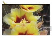Yellow Long- Spined Prickly Pear Cactus  Carry-all Pouch