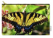 Yellow Monarch Butterfly On Milkweed #2 Carry-all Pouch