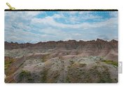 Yellow Mounds Panorama At Badlands South Dakota Carry-all Pouch