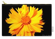 Yellow Mum On Black Background Carry-all Pouch