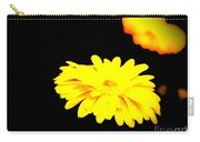 Yellow Mum On Black Backround Carry-all Pouch