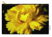 Yellow Mum With Raindrops Carry-all Pouch