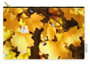 Yellow Nature Tree Leaves Art Prints Bright Baslee Troutman Carry-all Pouch