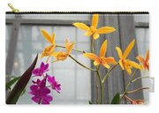 Yellow Orange And Purple Flowers Carry-all Pouch