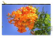 Yellow-orange Horn Flowers 01 Carry-all Pouch