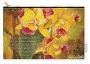 Yellow Orchids Acrylic 2 Cor 5 Carry-all Pouch