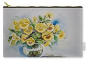 Yellow Pansies Carry-all Pouch