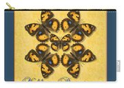 Yellow Pansy Butterfly Wheel Carry-all Pouch