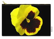 Yellow Pansy On Black Carry-all Pouch