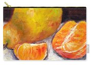 Yellow Pear With Tangerine Slices Grace Venditti Montreal Art Carry-all Pouch