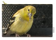 Lesser Female Goldfinch Having Lunch Carry-all Pouch