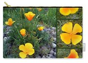 Yellow Poppies Collage  Carry-all Pouch