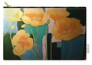 Yellow Poppies On Blue Carry-all Pouch