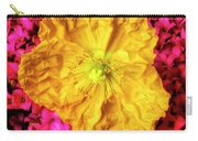 Yellow Poppy And Kalanchoe Flowers Carry-all Pouch