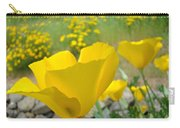 Yellow Poppy Flower Meadow Landscape Art Prints Baslee Troutman Carry-all Pouch