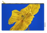Yellow Poppy On Blue Background Carry-all Pouch