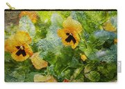 Yellow Pretty Little Flowers Carry-all Pouch