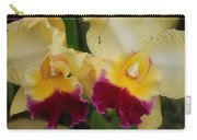 Yellow Purple Orchids Carry-all Pouch