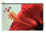 Yellow Red And Coral Hibiscus Profile Carry-all Pouch
