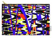 Yellow Red Blue Black And White Abstract Carry-all Pouch