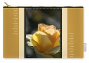 Yellow Rose Bud Dreams With Design Carry-all Pouch