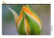 Yellow Rose Bud - Rose Bud Carry-all Pouch