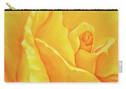Yellow Rose Detail Carry-all Pouch