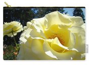 Yellow Rose Garden Landscape 3 Roses Art Prints Baslee Troutman Carry-all Pouch